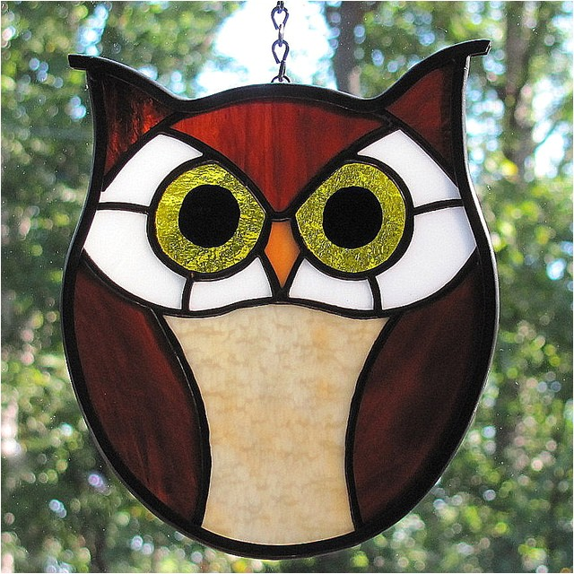 Stained Glass Owl Patterns Stained Glass Hoot Owl Flickr Photo Sharing