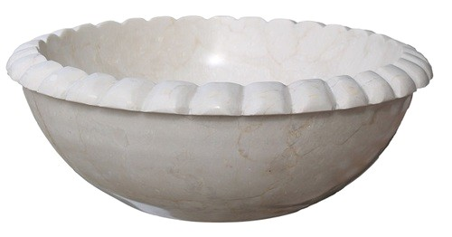 rope natural stone vessel sink beige marble clearance