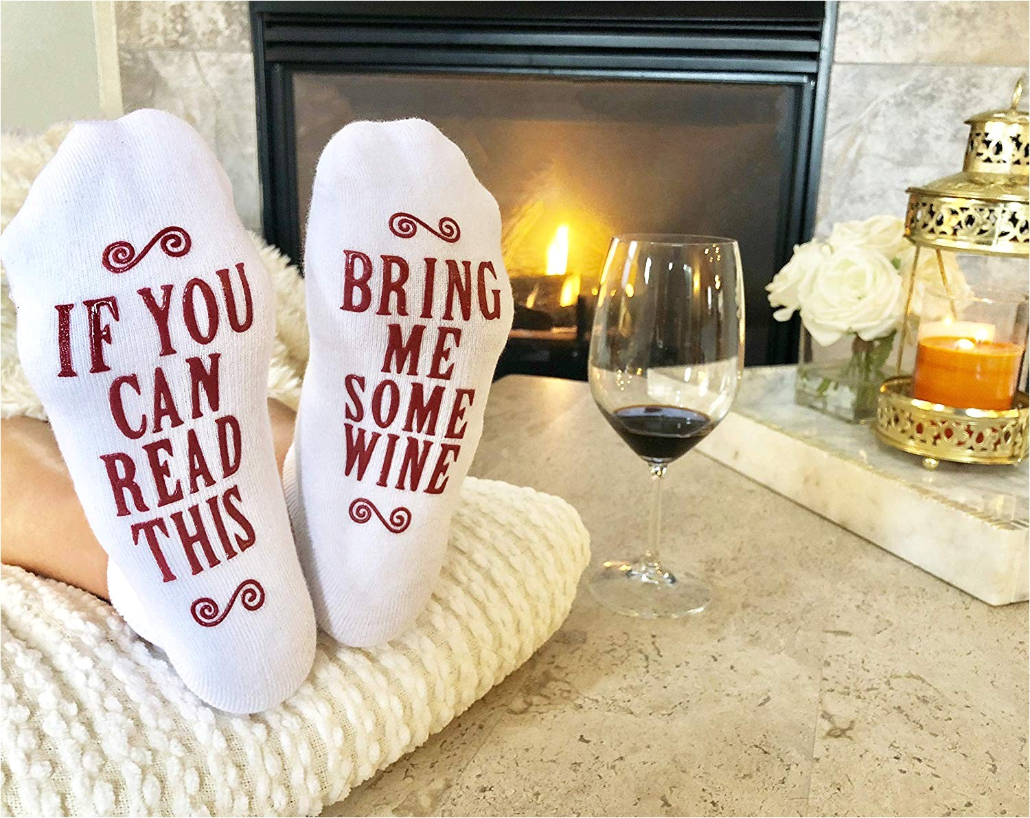 amazon com bring me some wine luxury combed cotton socks with gift box perfect hostess or holiday gift idea for women cute christmas gift idea for