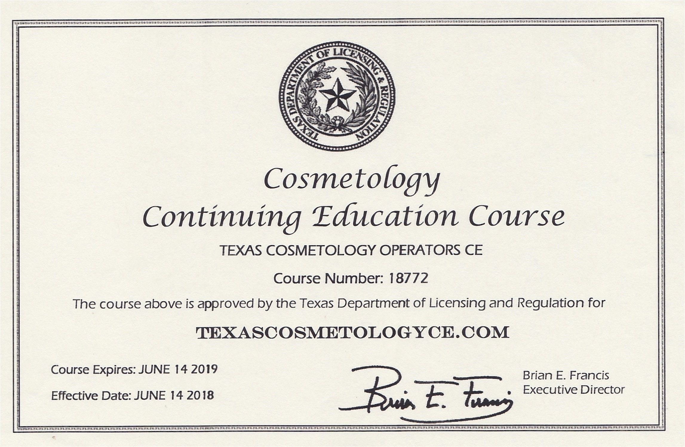 Tdlr Continuing Education Cosmetology Texas Cosmetology Continuing Education Online Online Texas