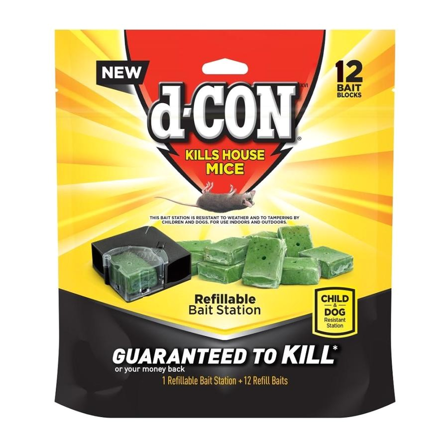 d con 12 count mouse bait station