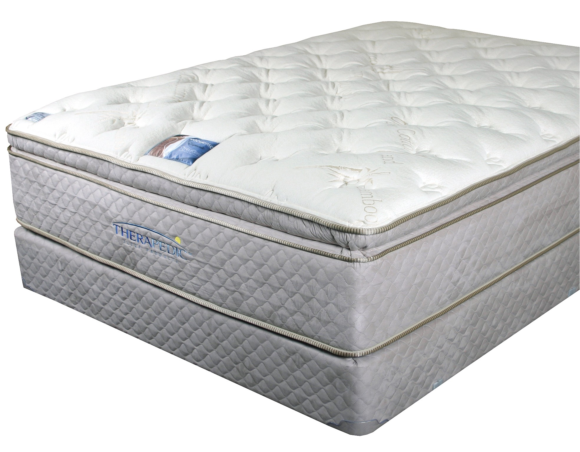therapedic backsense elite plush latex pillow top legacy