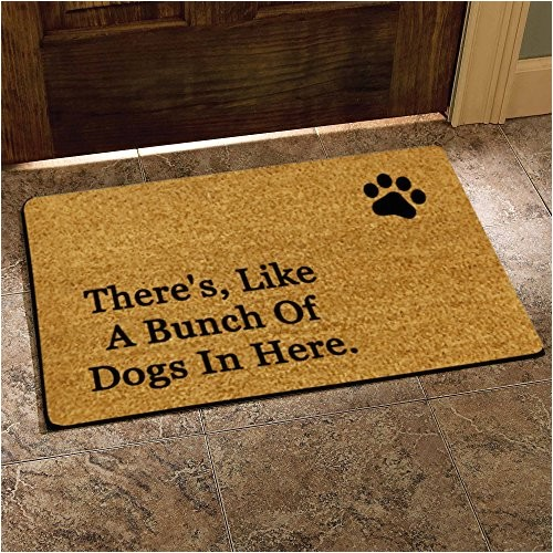 Theres Like A Bunch Of Dogs In Here Doormat there 39 S Like A Bunch Of Dogs In Here Funny Design