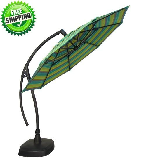 11 octagon ag28 cantilever umbrella custom order with sunbrella or outdura fabrics