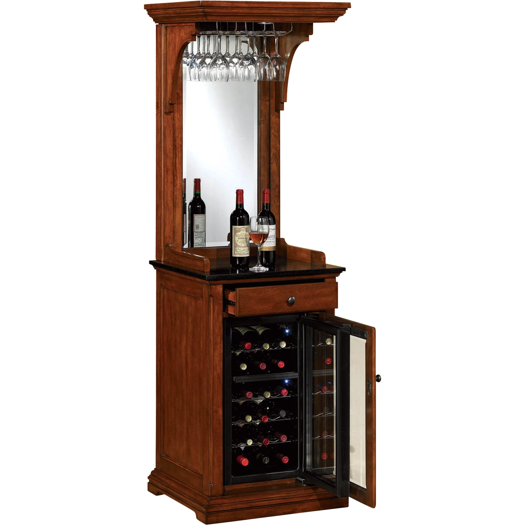 tresanti pinot thermoelectric wine cooler dual zone cooling 24bottle capacity premium birch finish