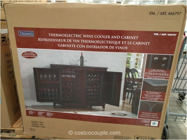 tresanti thermoelectric wine cooler and cabinet