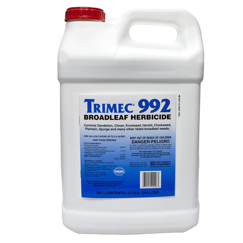 amazon com trimec 992 broadleaf herbicide 2 5 gallons weed killers garden outdoor