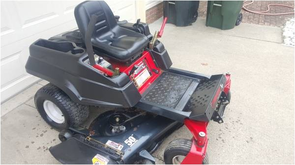 troy bilt xp zero turn mower 50in