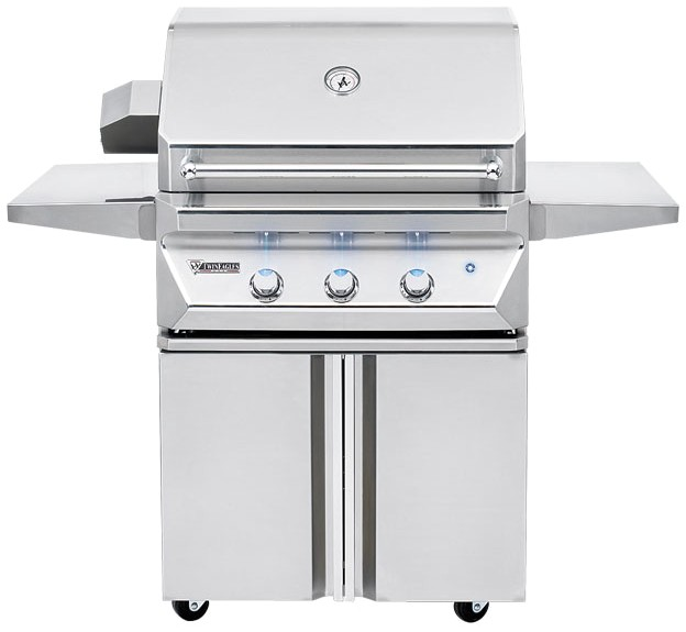 twin eagles 30 inch natural gas grill on cart