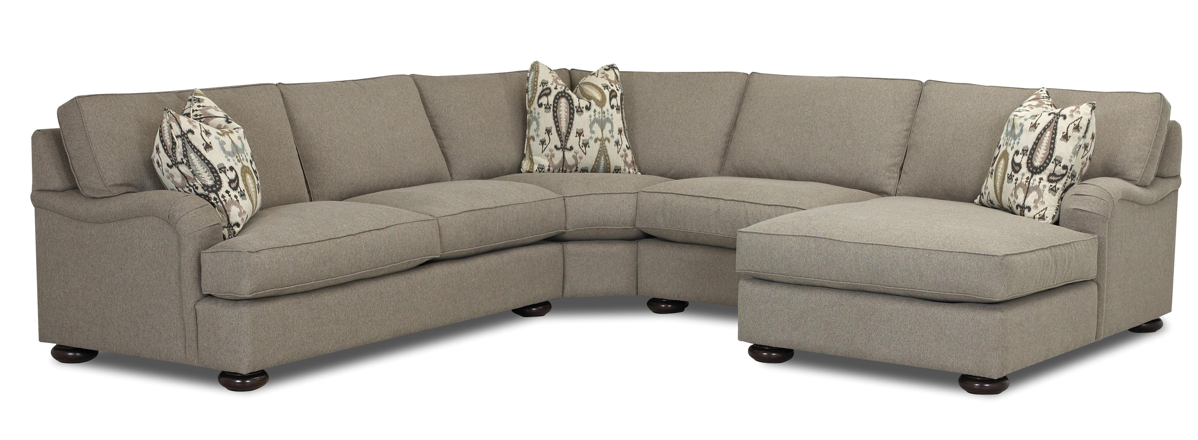 klaussner killian traditional four seater sectional sofa with chaise ahfa sofa sectional dealer locator