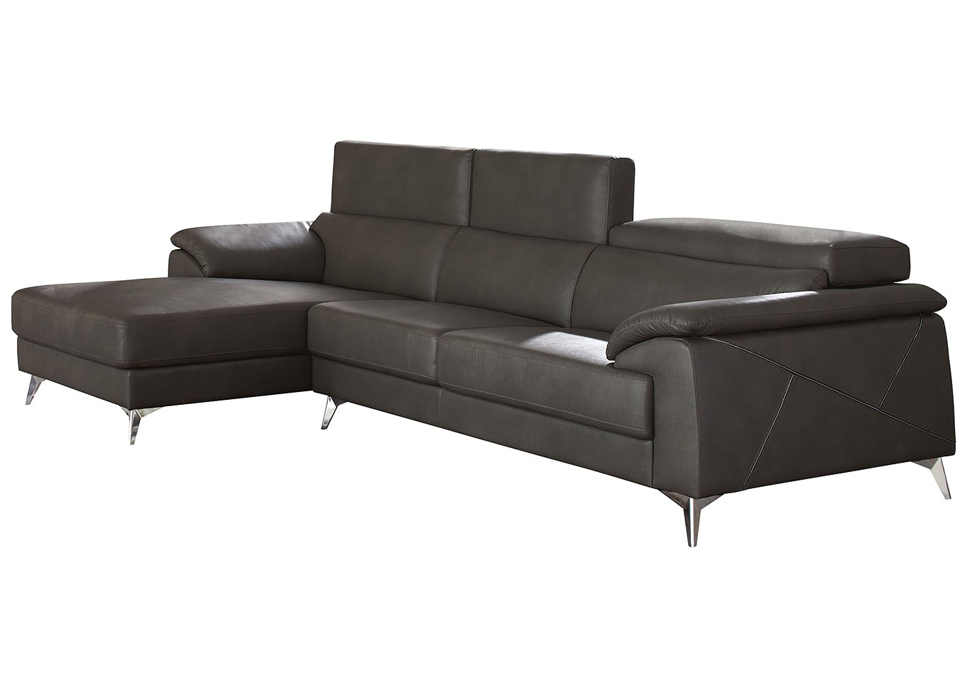 tindell gray right facing loveseat chaise sectional signature design by ashley