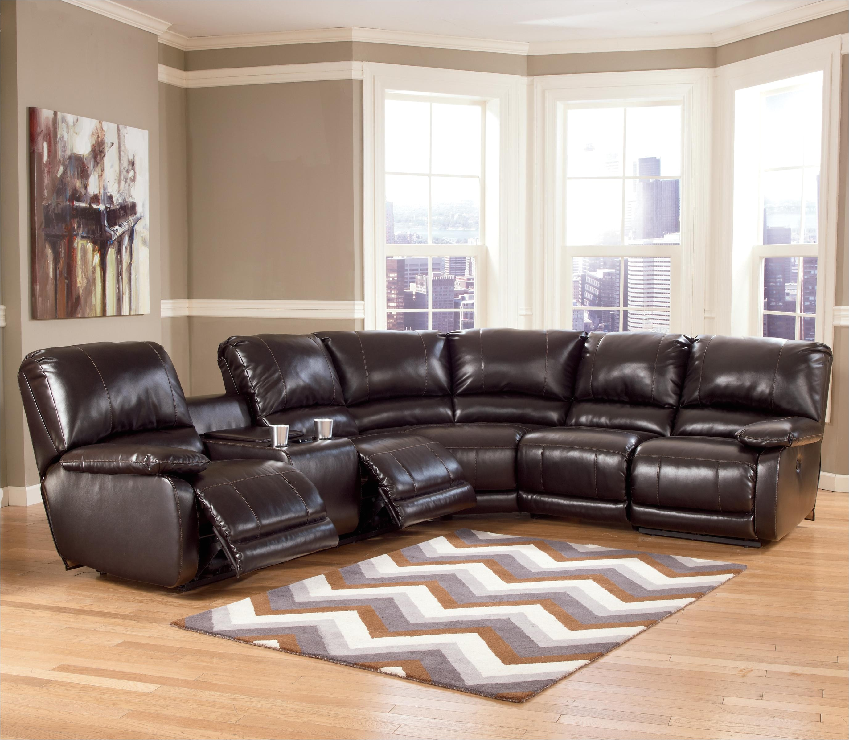 signature design by ashley capote durablenda chocolate power reclining sectional with heat massage and storage ahfa reclining sectional sofa dealer