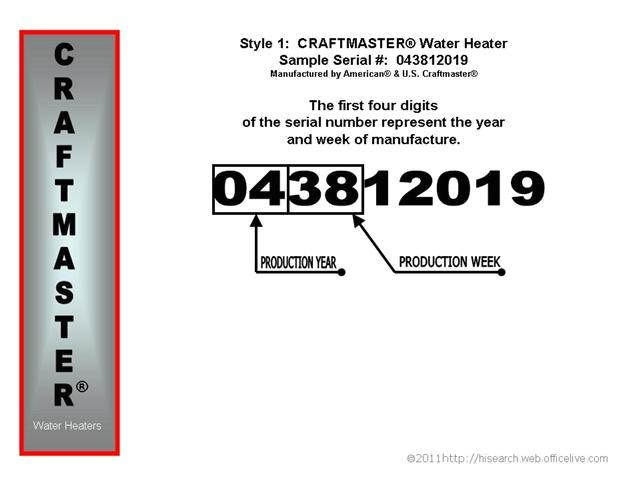 Us Craftmaster Water Heater Age Craftmaster Water Heater Age Building Intelligence Center