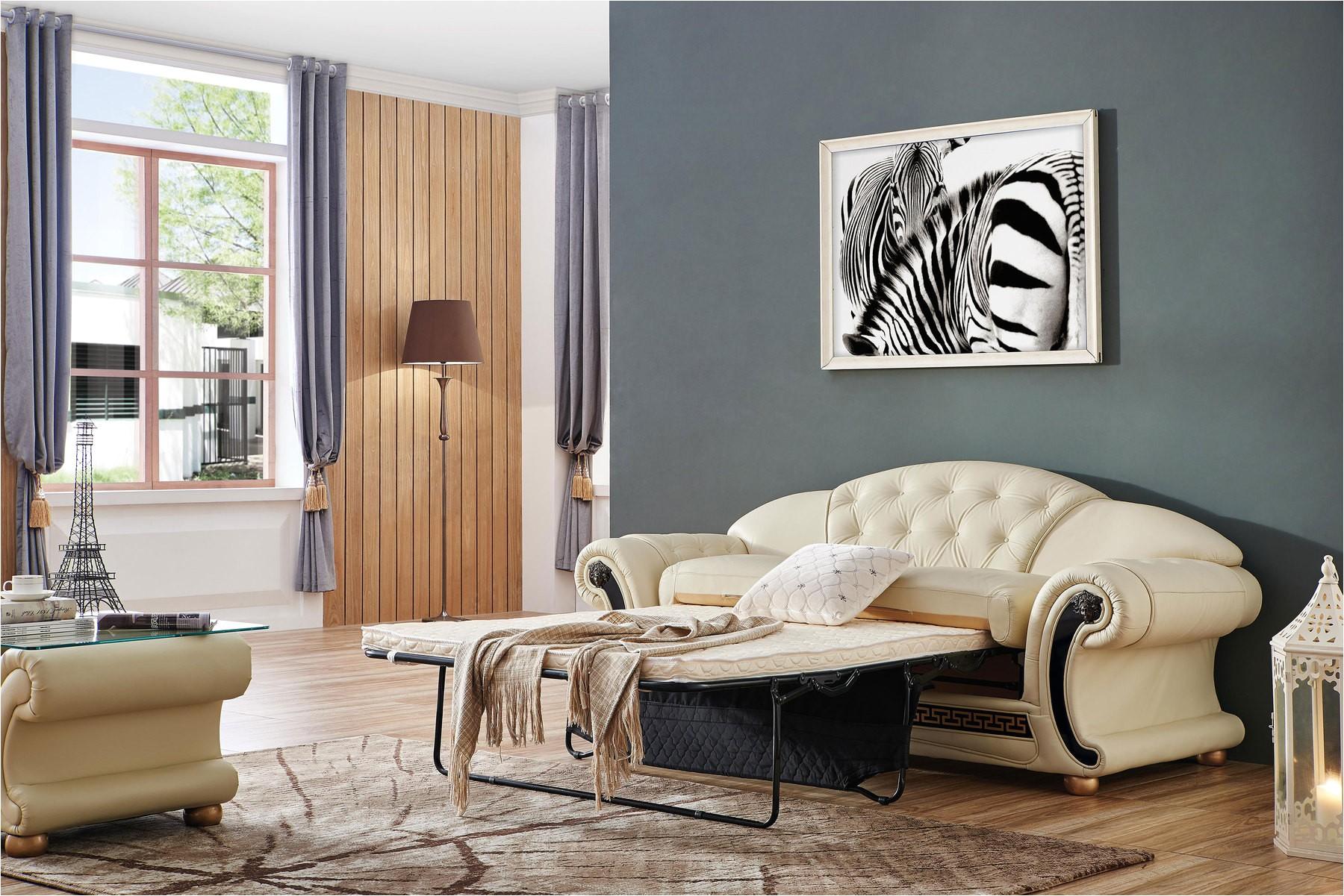 versace leather sofa