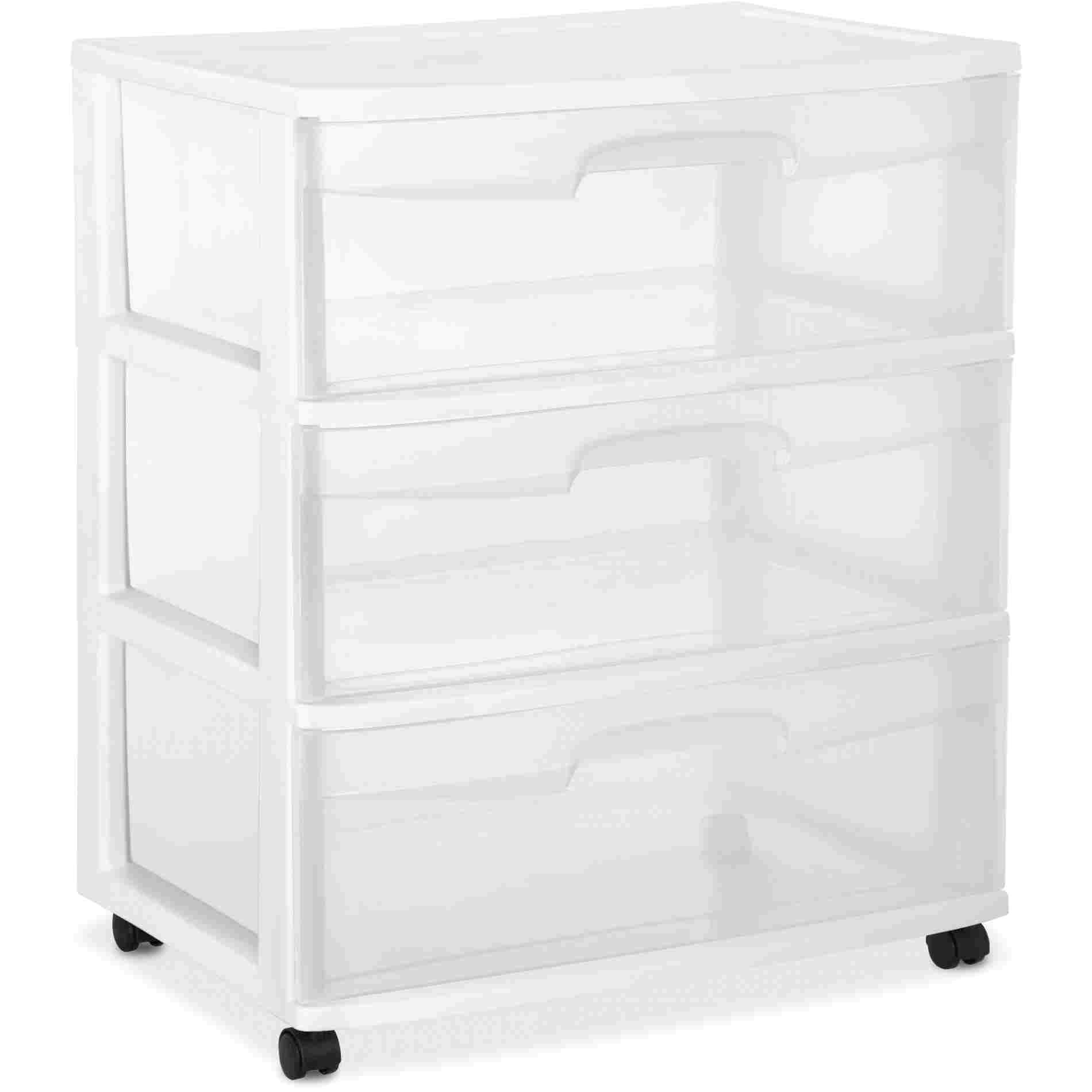 3 drawer plastic storage walmart