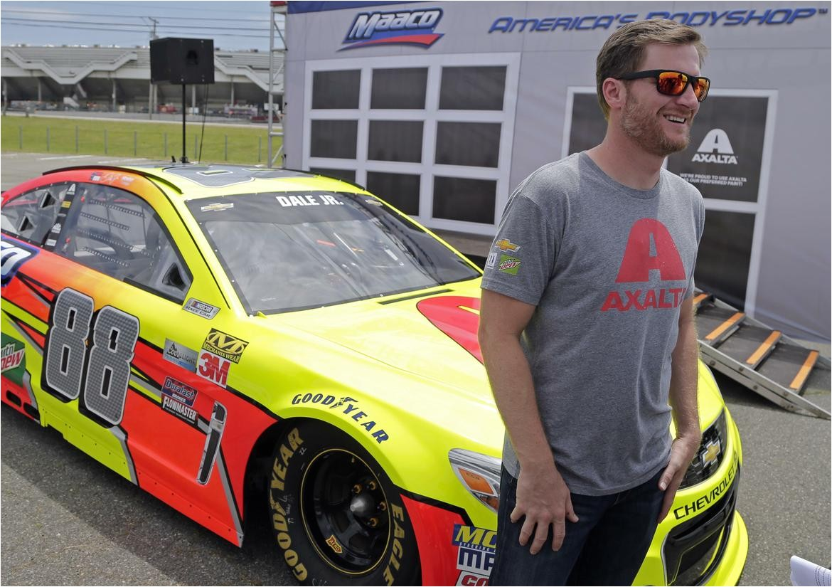 dale earnhardt jr forced to scrap eagles car at pocono