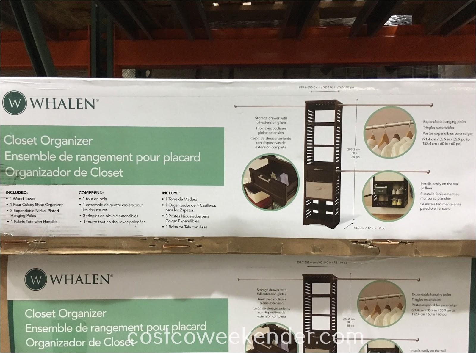 whalen closet organizer costco 962840