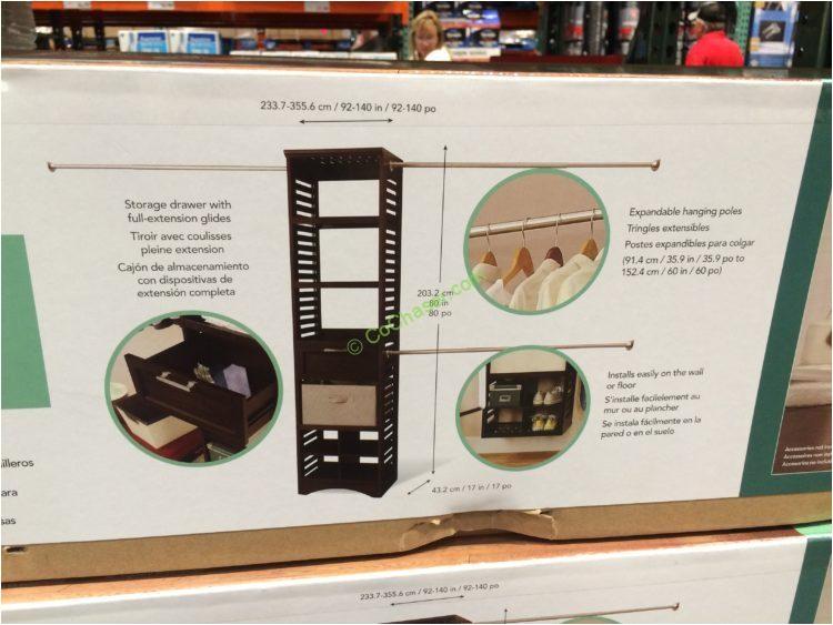 costco 962840 whalen closet organizer wood construction spec