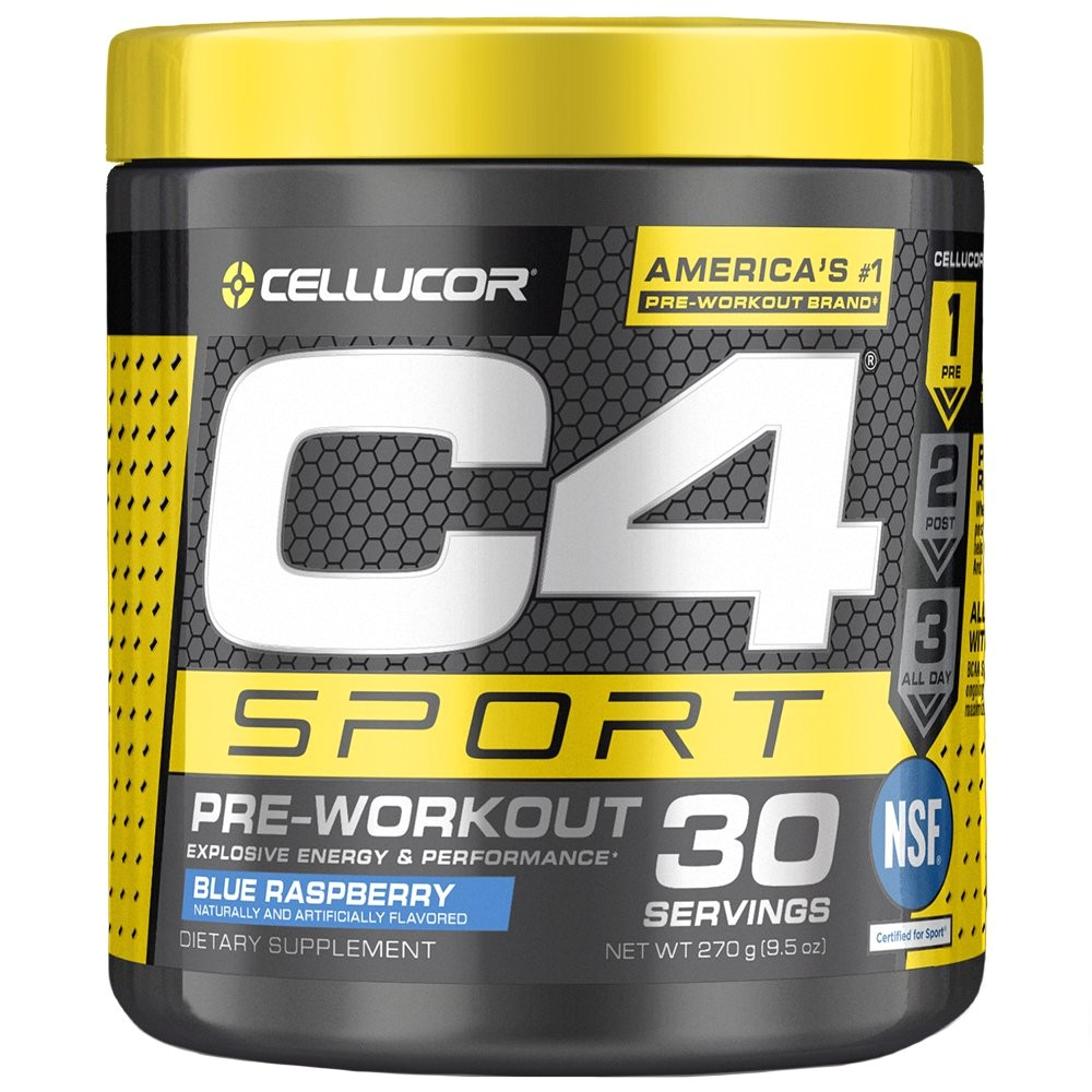 amazon com cellucor c4 sport pre workout powder sports hydration energy drink supplement with creatine monohydrate beta alanine blue raspberry