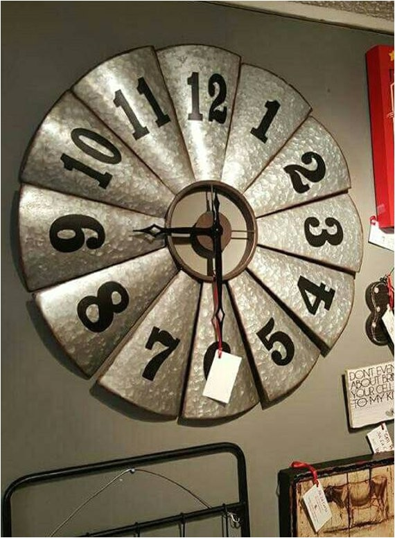 Windmill Clock Hobby Lobby Galvanized Metal Windmill Clock Country Kitchen Industrial