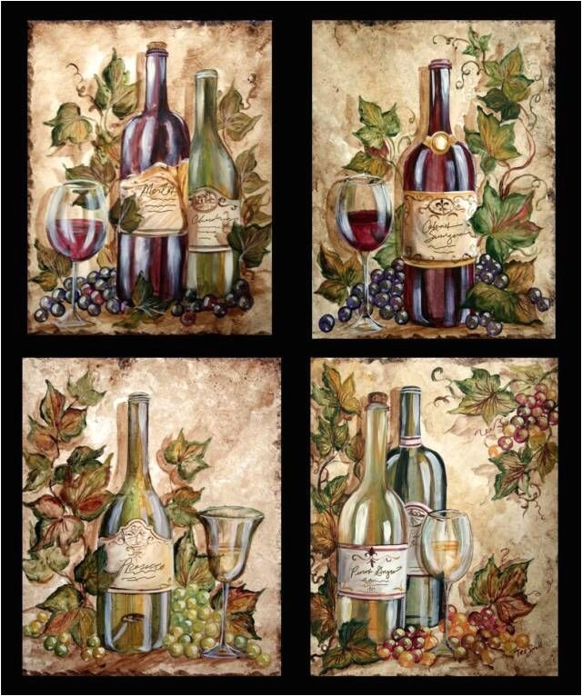 Wine And Grape Kitchen Decor Ideas Wine Bottle Grapes On Wine