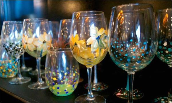 Wine and Paint Columbus Glassware Painting Studio 614