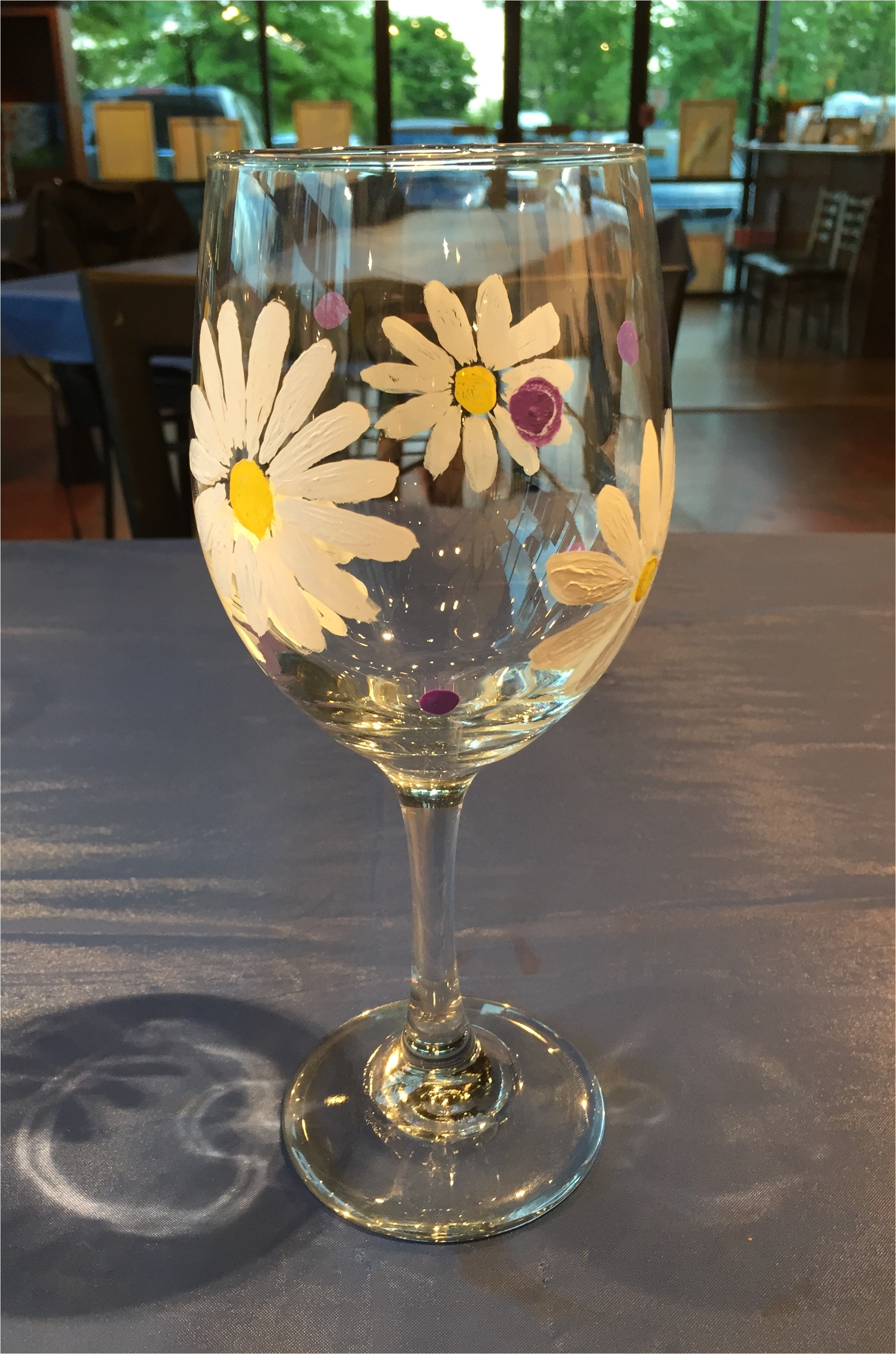 wine glass painting paint 2 glasses