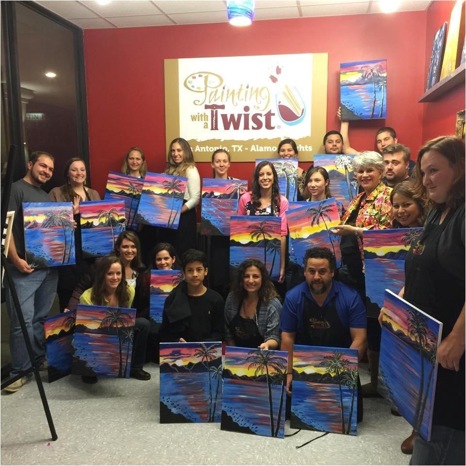 Wine and Paint San Antonio Painting with A Twist San Antonio Texas Tx