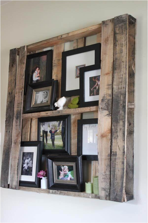 wall shelves picture frame display rack