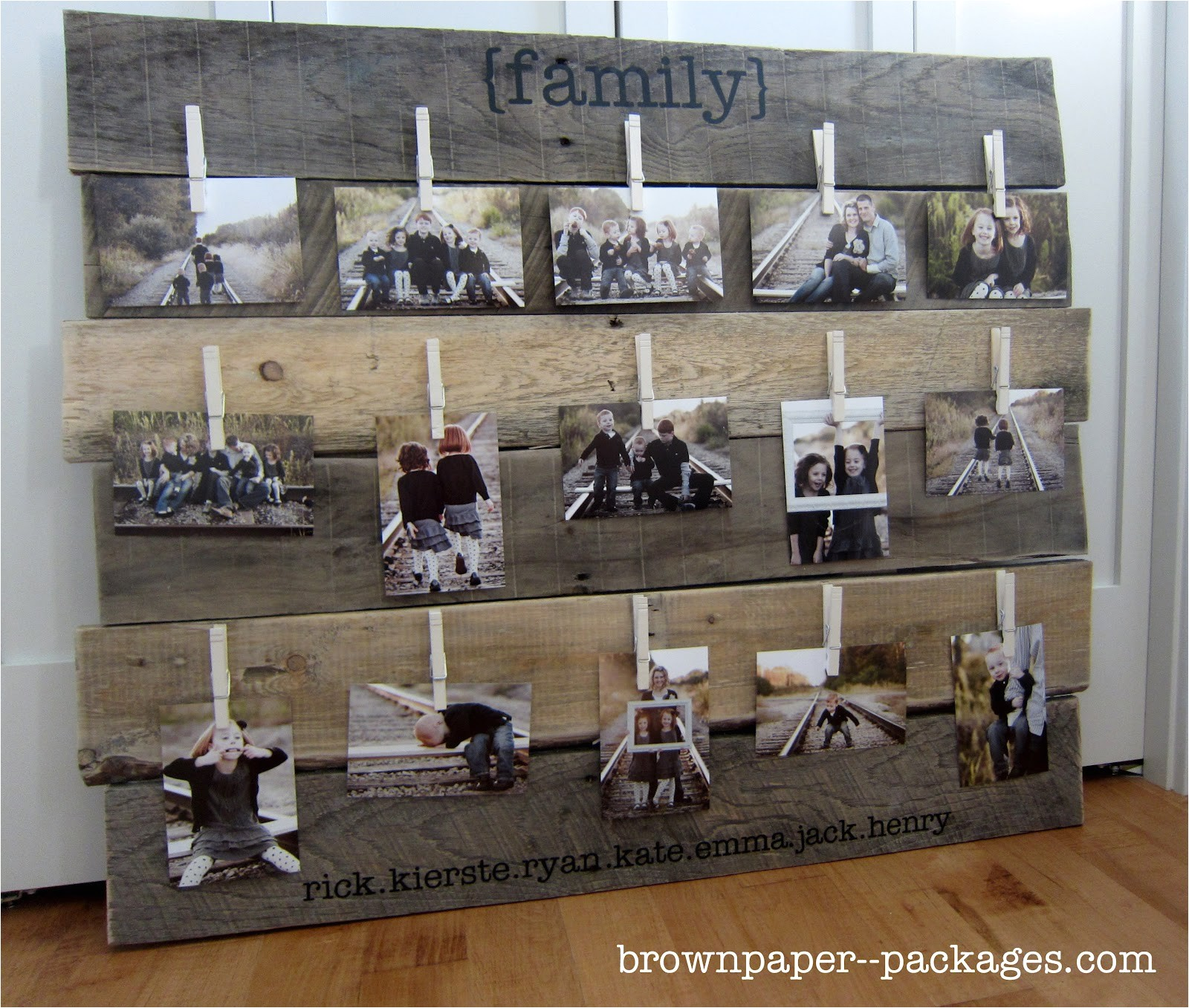 brown paper packages wood pallet photo
