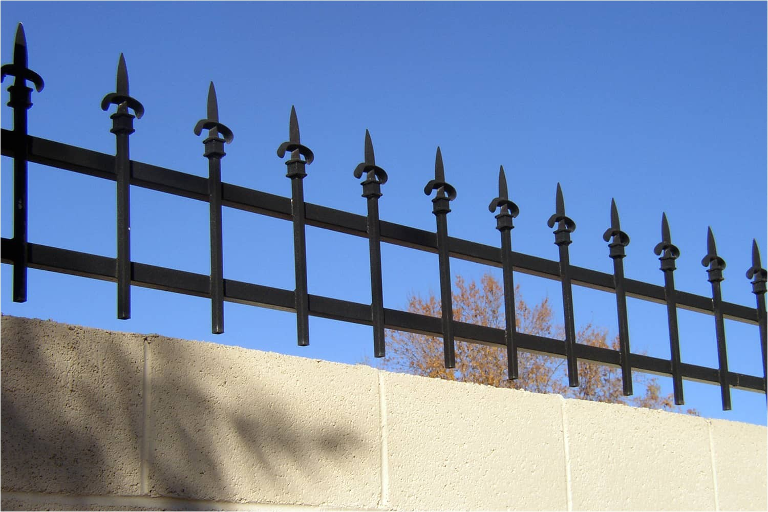Wrought Iron Fence toppers Decorative Wrought Iron Fencing Examples Sun King Fencing
