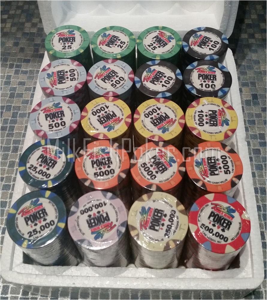 Wsop Clay Poker Chip Sets 500 Wsop Ceramic Poker Chips Ebay