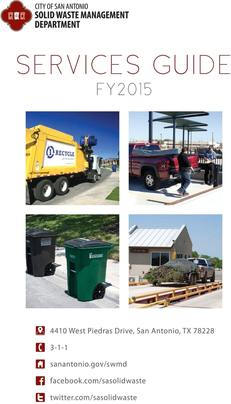 Www Sanantonio Gov Swmd Services Guide Fy2015 F 1 5 F T West Piedras Drive San