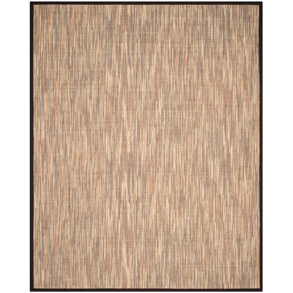 natural fiber assorted brown 8 ft x 10 ft area rug