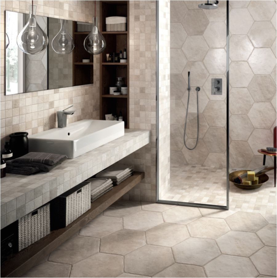large hexagonal tile in bathroom and shower 56a4a09d3df78cf772835158 jpg