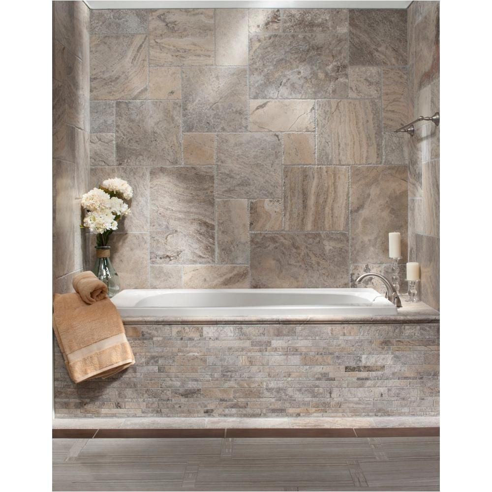 argento brushed travertine tile 16in x 16in 922101293 floor and decor pattern for kitchen floor mosaic for backsplash