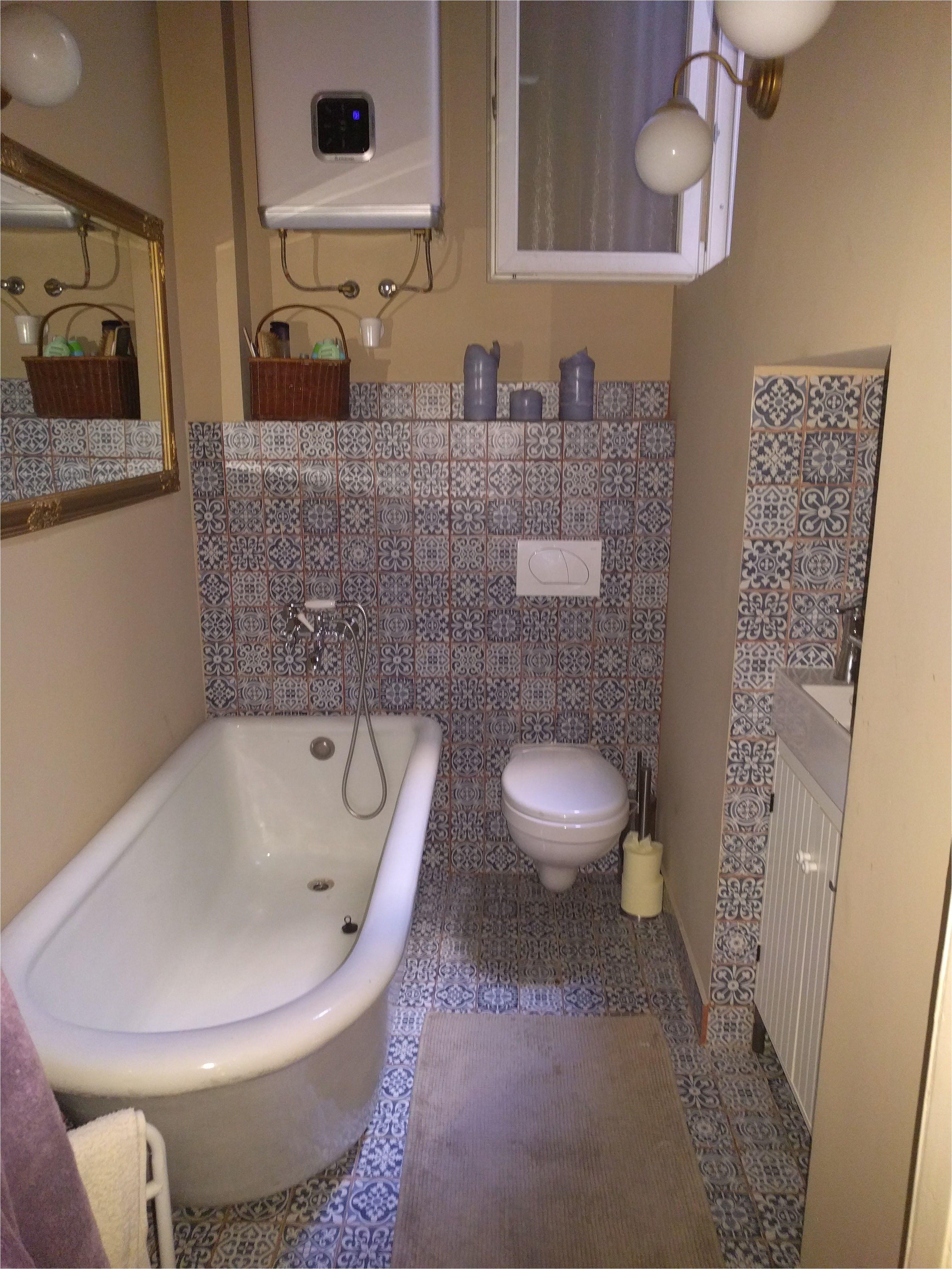 faenza azul blue tiles bathroom vintage porcelain china bathtube chinabathtub