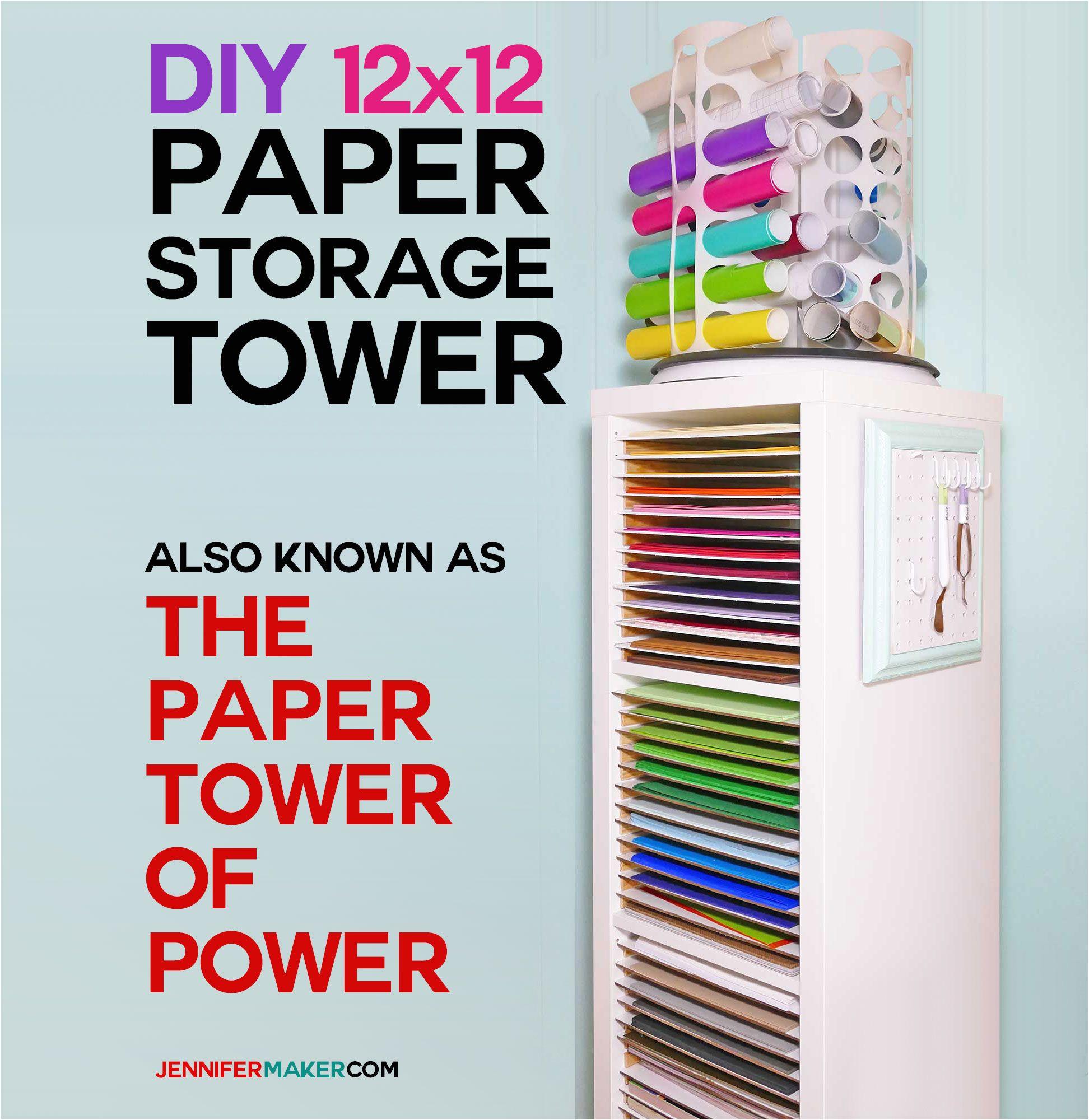 12x12 paper storage diy vertical organizer for scrapbook paper jennifer maker