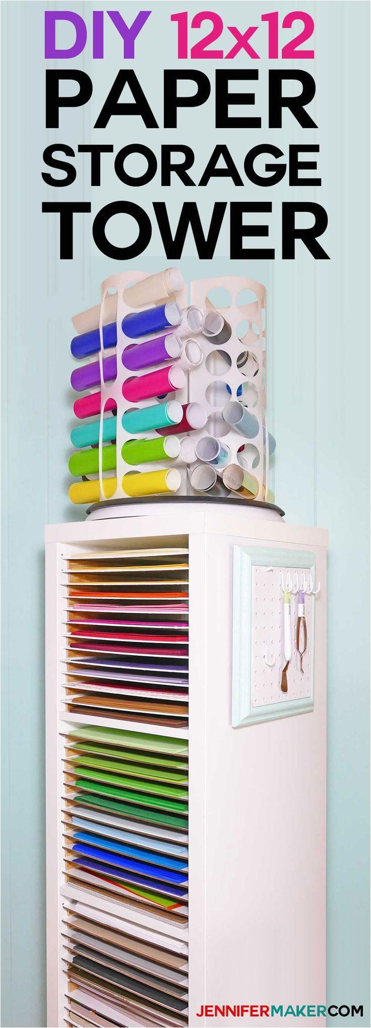 12x12 paper storage diy vertical organizer for scrapbook paper