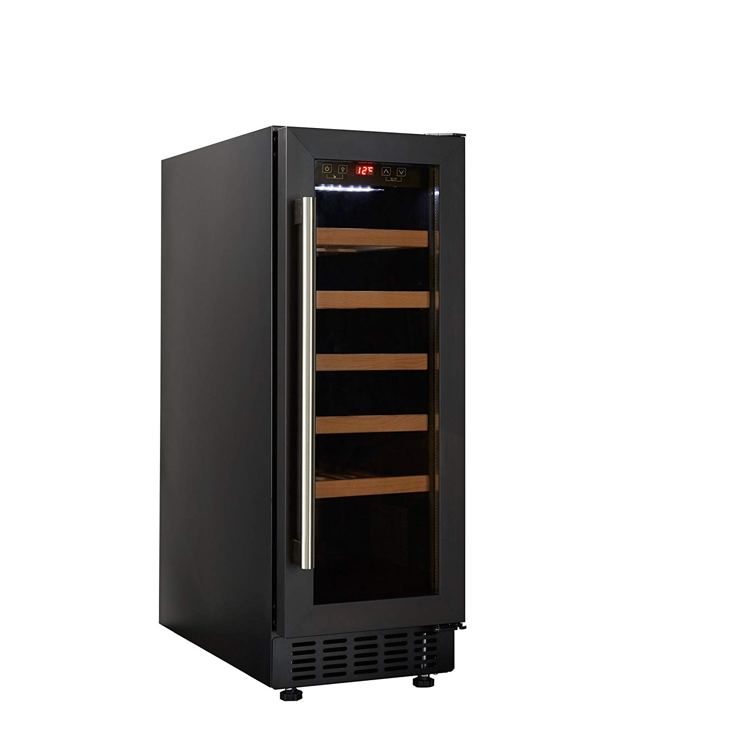 cookology cwc300bk 30cm wine cooler in black 20 bottle capacity freestanding undercounter fridge amazon co uk large appliances