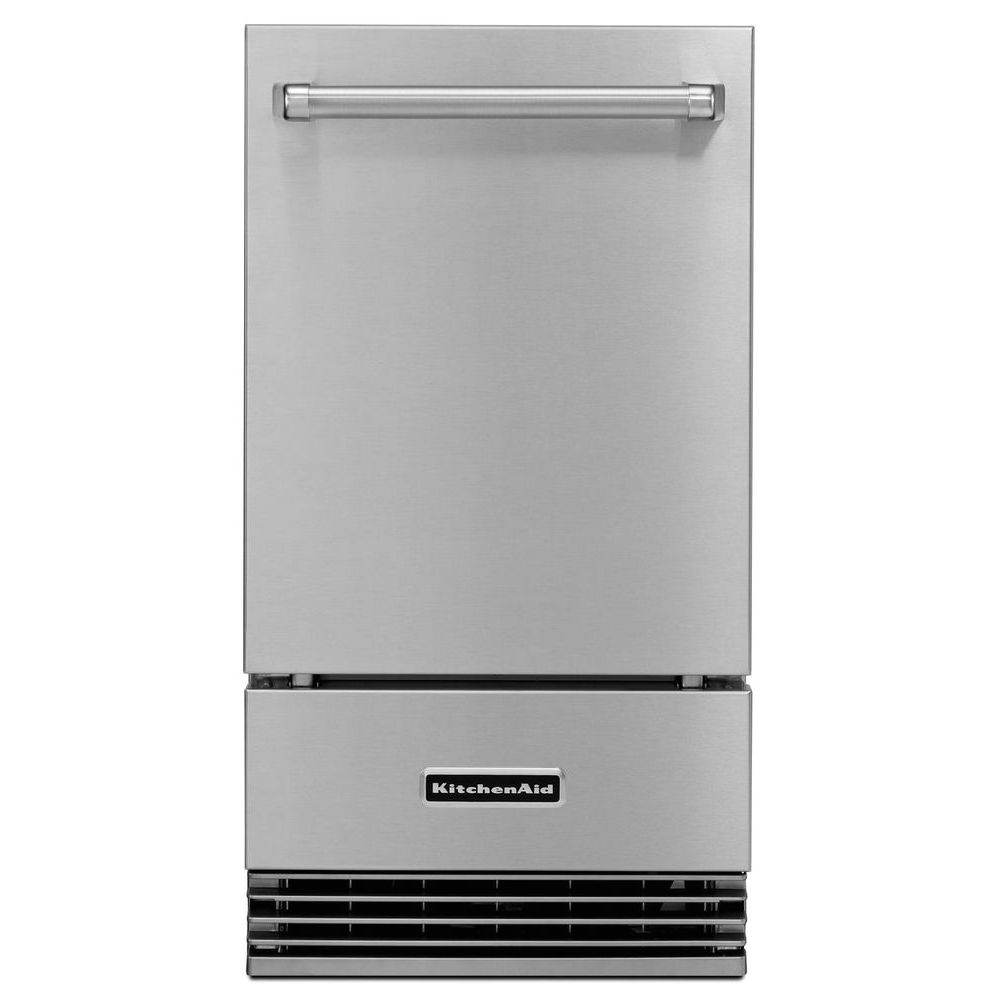 kitchenaid 18 automatic outdoor clear icemaker