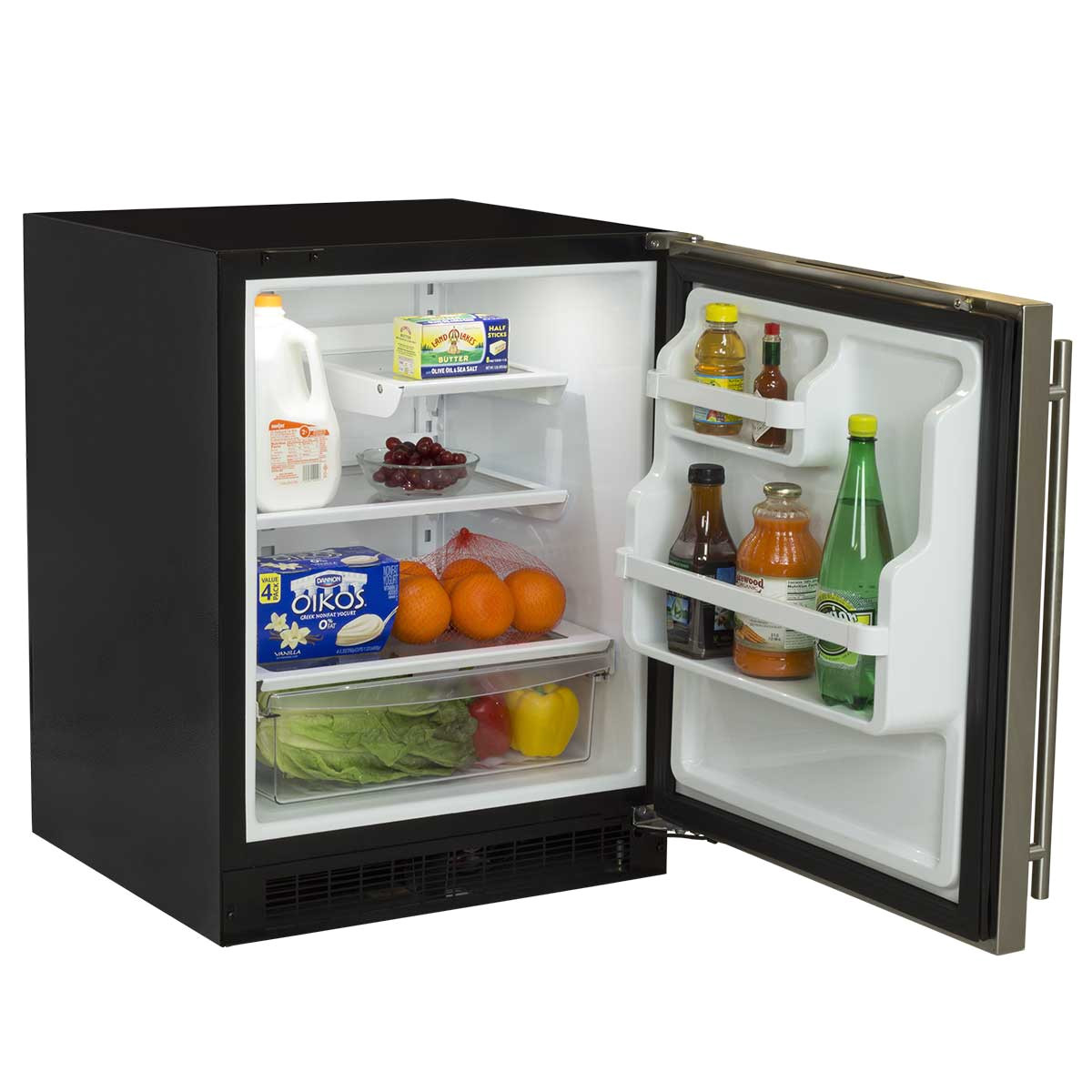 24 low profile all refrigerator with door storage ma24ras2