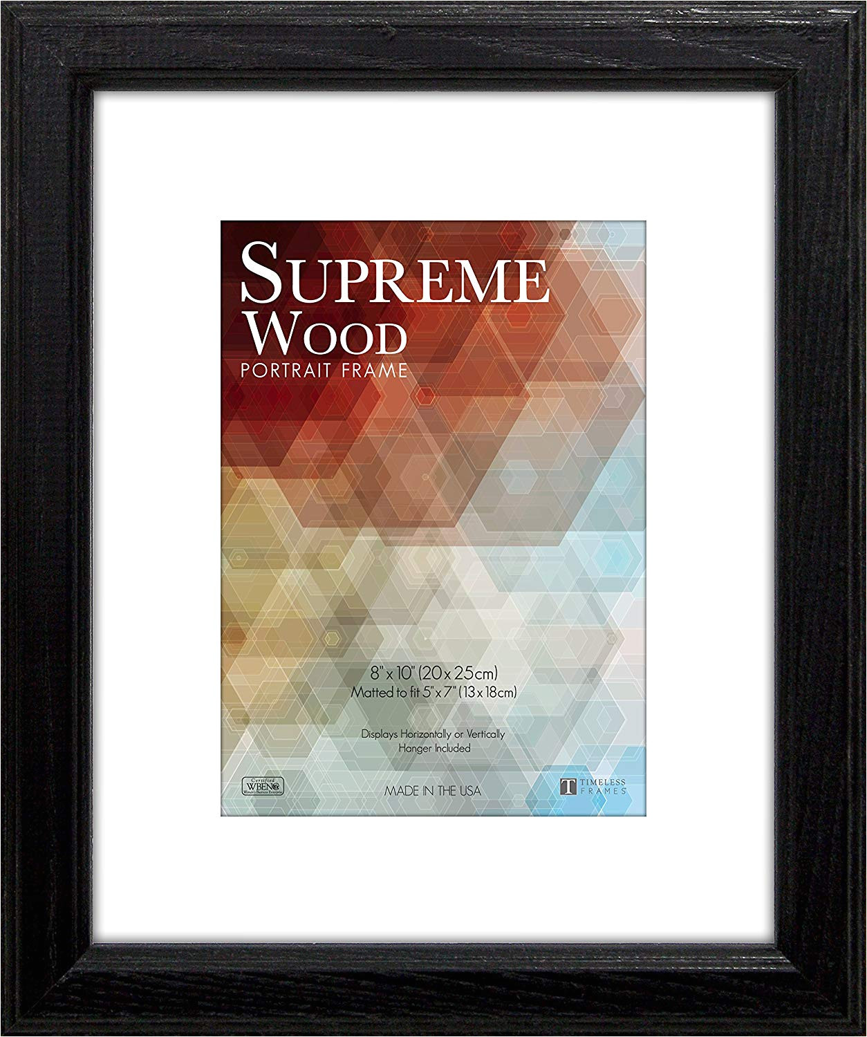 amazon com timeless frames 14x18 inch fits 11x14 inch photo supreme solid wood wall frame black home kitchen