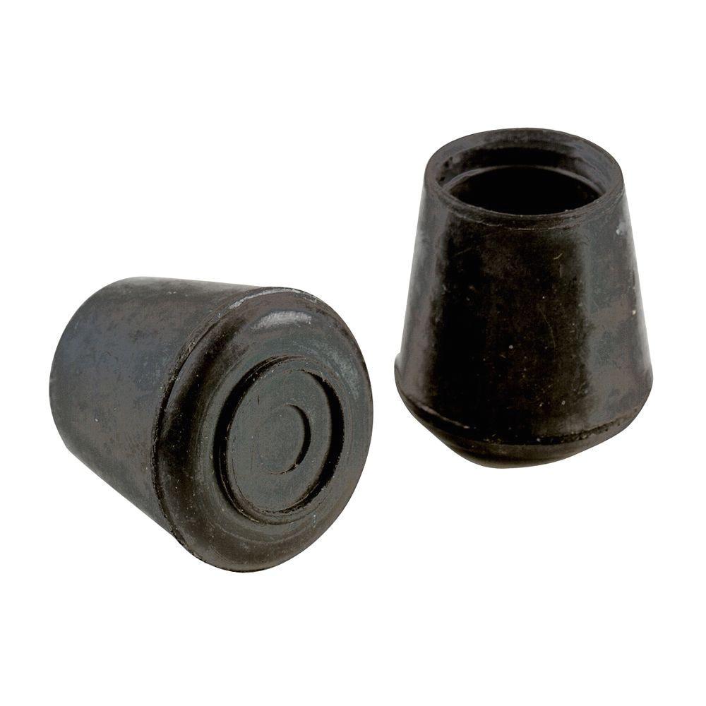 black rubber leg tips 4 per pack