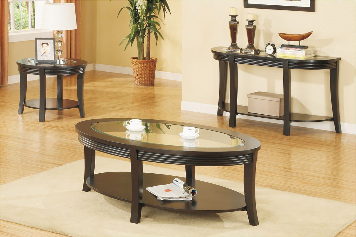 perseus glass top wooden coffee table set montreal round tables and end sets dmi furniture white