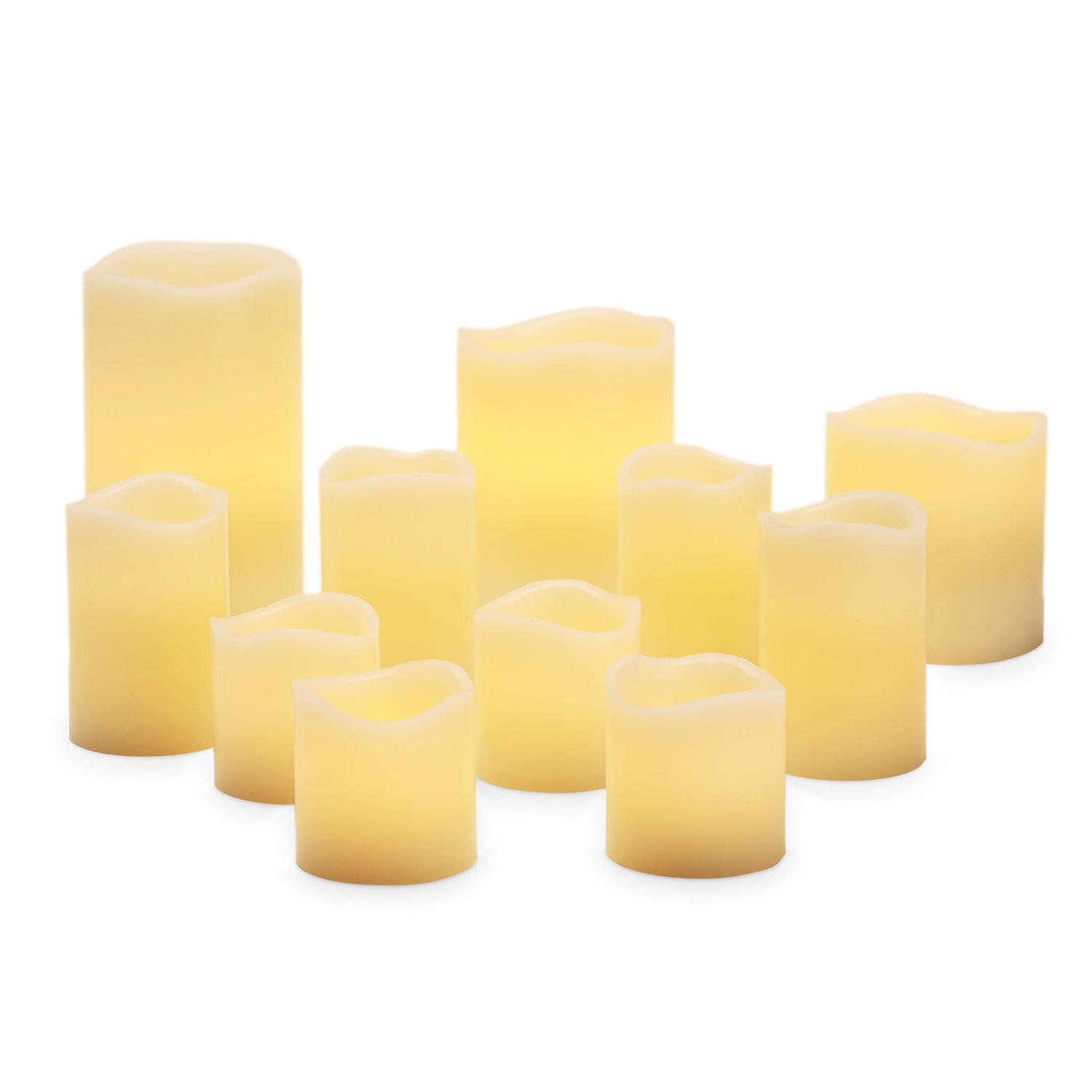 flameless pillar and votive candle set real wax flickering led candles assorted sizes