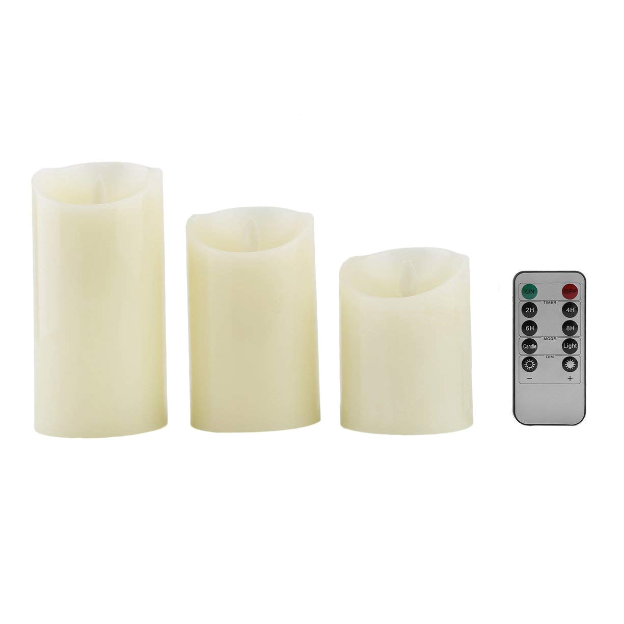 get quotations a 3 pcs set battery operated led pillar candles flickering flameless led tea light