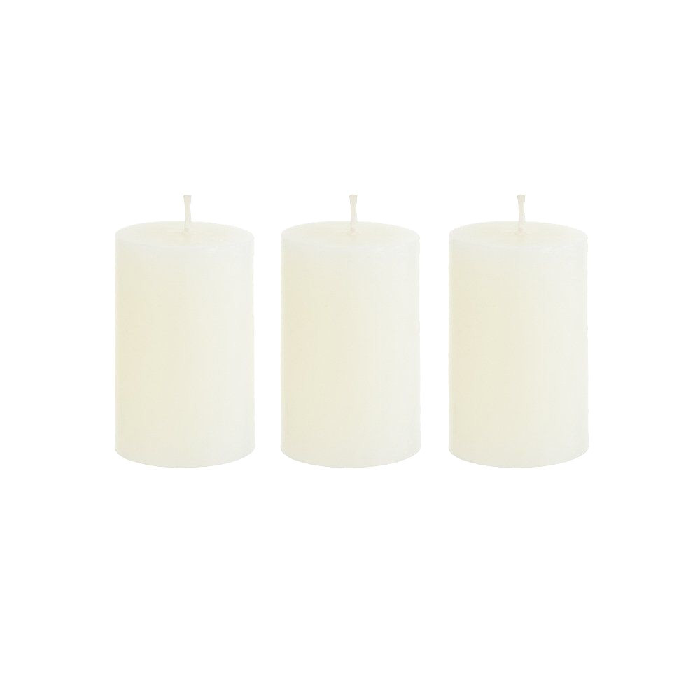 mega candles 3 pcs unscented ivory round pillar candle hand poured premium wax candles 2 x