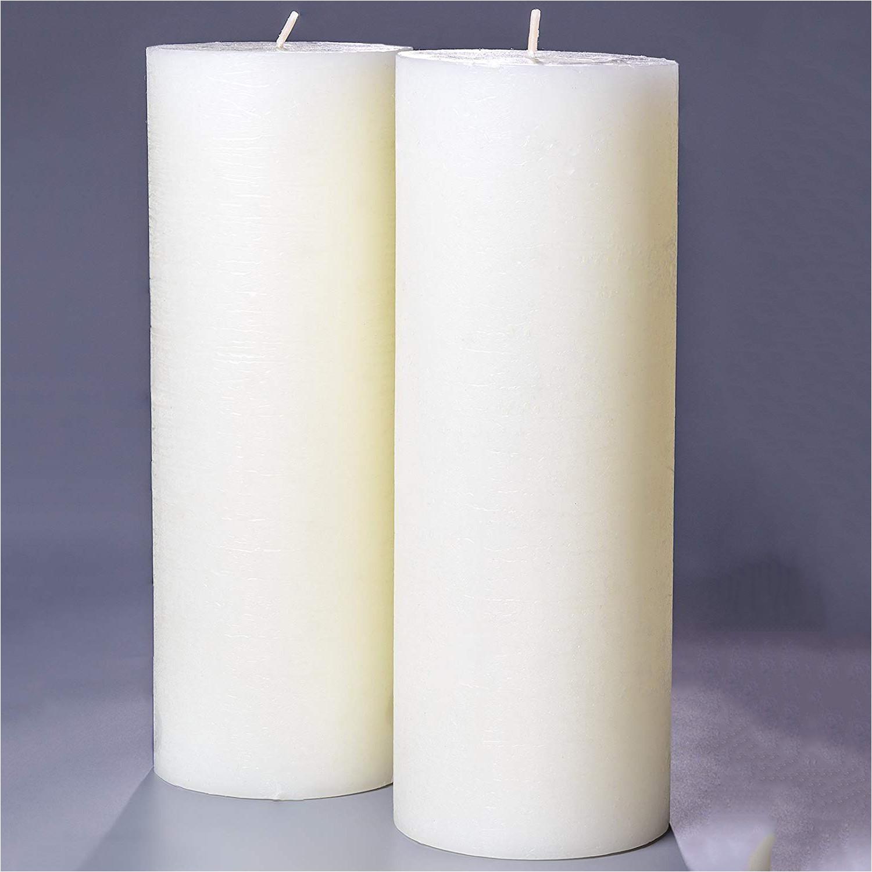 set of 2 ivory pillar candles 3 x 8 melt candle pany