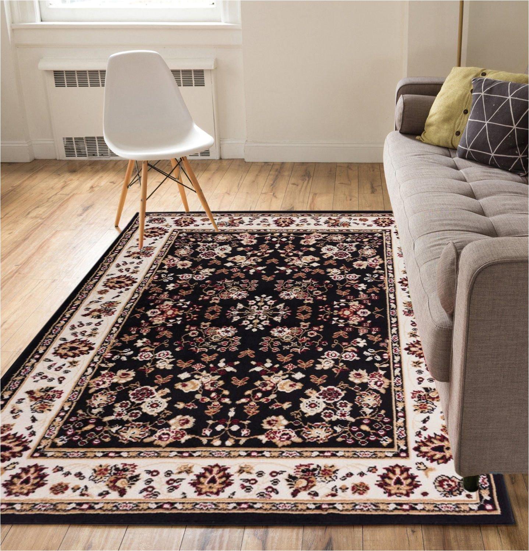 5×7 area Rugs Under 50 Amazon Com Well Woven Persia Sarouk Black 5 X 7 area Rug Carpet